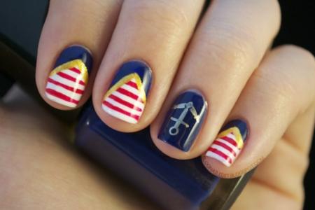 Navy nail art - StyleCoolture2