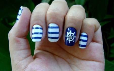 Navy nail art - StyleCoolture3