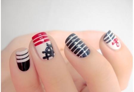 Navy nail art - StyleCoolture4