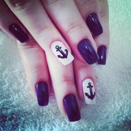 Navy nail art - StyleCoolture5