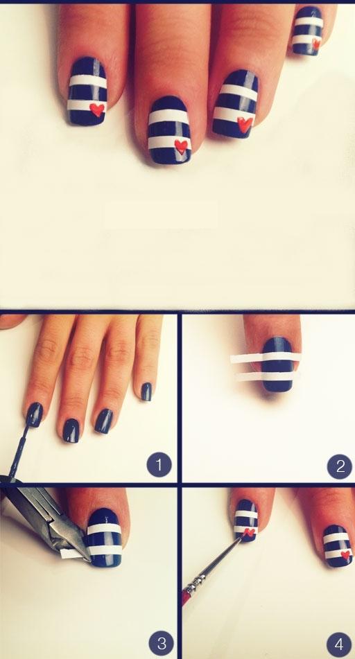 Navy nail art - StyleCoolture6